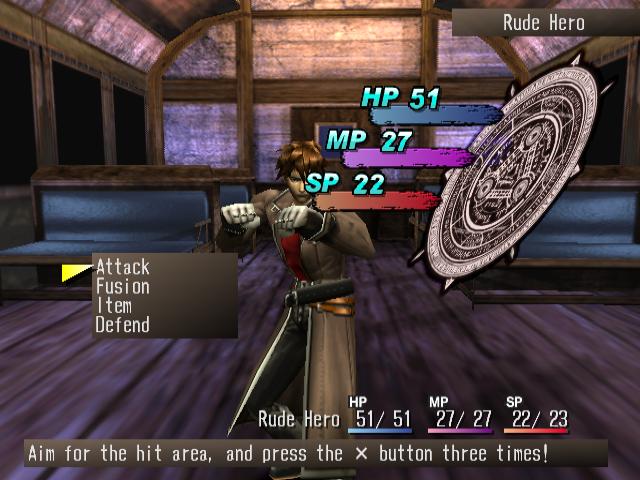 Shadow Hearts Rude combat