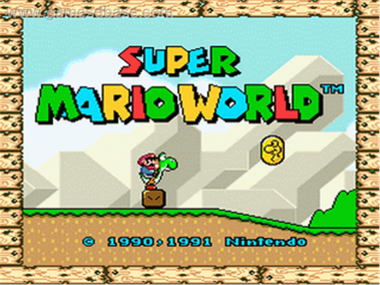 Super Mario title screen