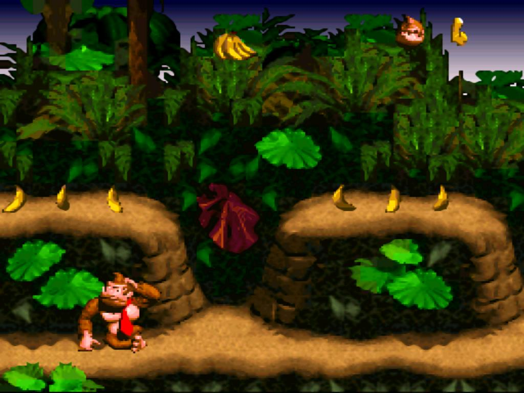 Donkey Kong Country SNES Screen