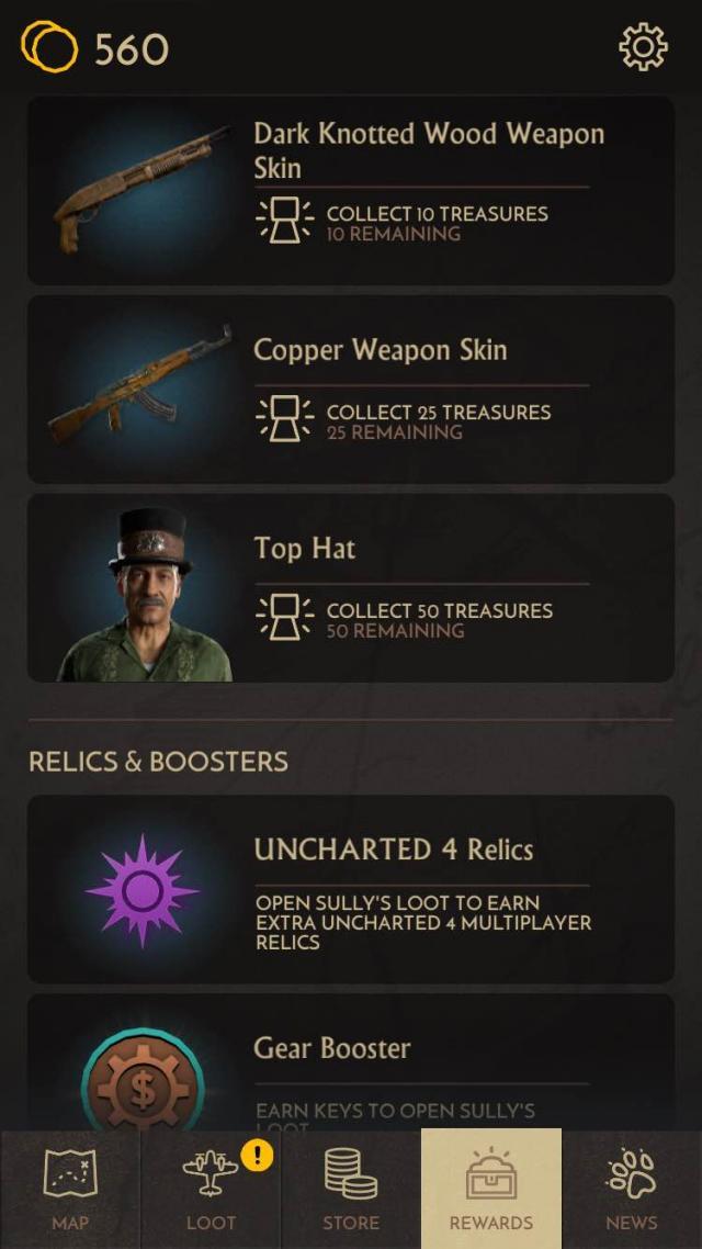 fortune hunter in game unlockables