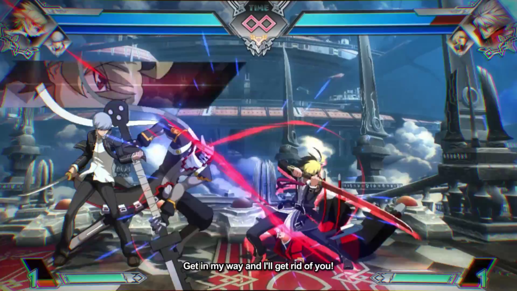 And here we see Ragna in his natural state: getting the crap kicked out of him.